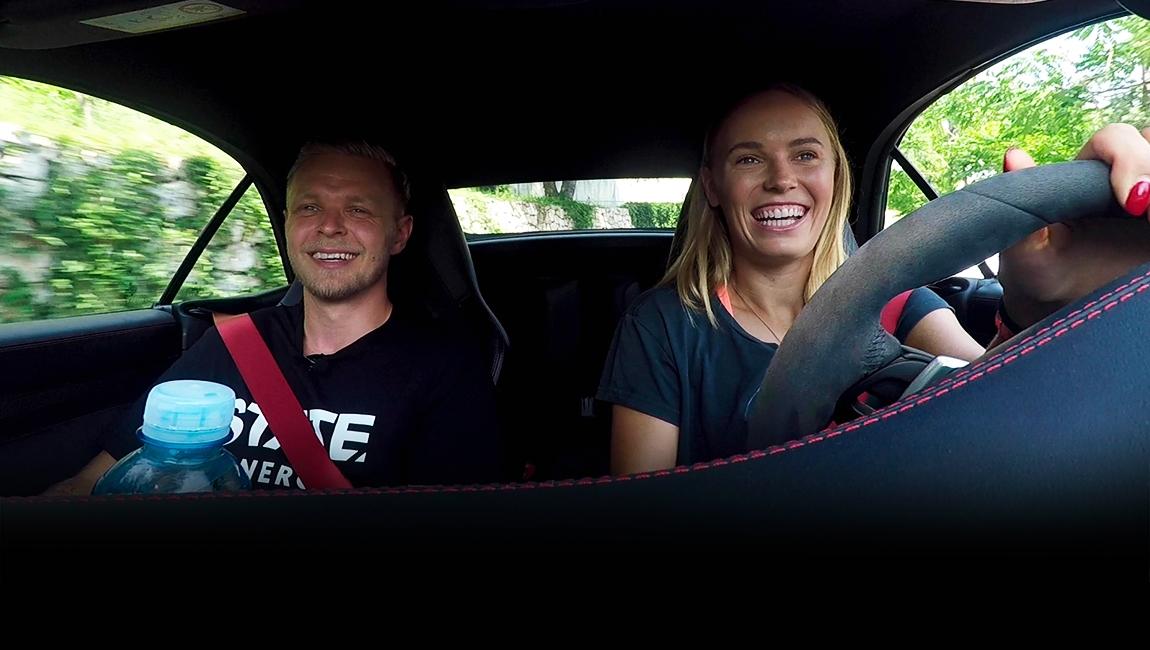 Carpool med Kevin Magnussen og Caroline Wozniacki i Monaco - STATE TV