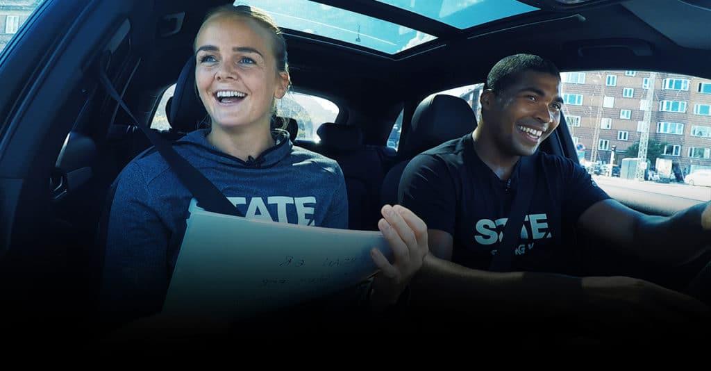 STATE Carpool med Stine Jørgensen og Mads Mensah
